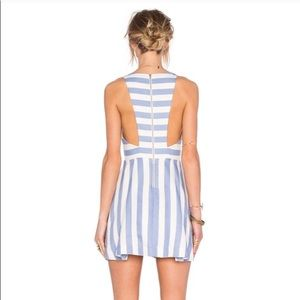 Lovers + Friends Dresses - Lovers + Friends Honor Striped Cut-Out Dress